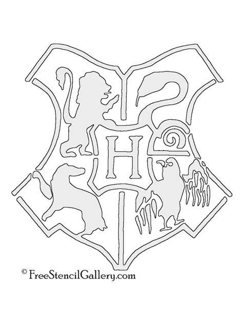 Hogwarts Logo Outline by Best 25 Pumpkin Stencil Ideas On Stencils Pumpkin Carving Templates And