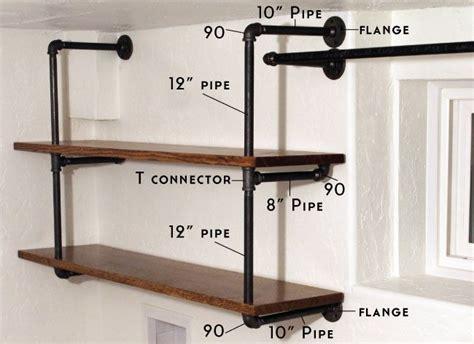Bedroom Corner Desk Unit Best 25 Pipe Shelves Ideas On Pinterest Diy Pipe