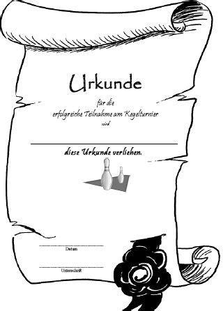 Design Vorlage Urkunde Kegel Urkunden Vorlagen