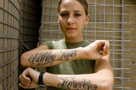 cpl anica coate shows her tattoos she got her quot forever