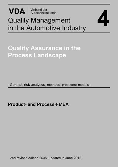 Volume 4 Chapter: Product-and Process-FMEA-Verband der