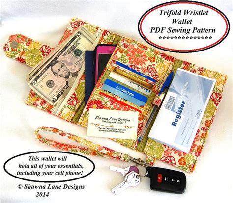 Womens Wallet Go Digital by S Wallet Sewing Pattern Cell Phone Wallet