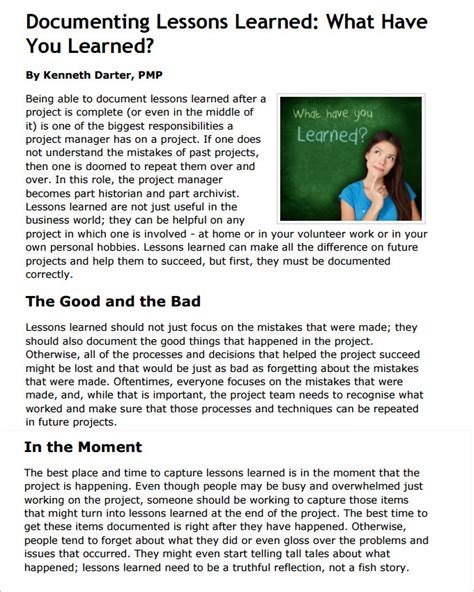 Lessons Learnt Report Template by Lesson Learned Template Images Template Design Ideas
