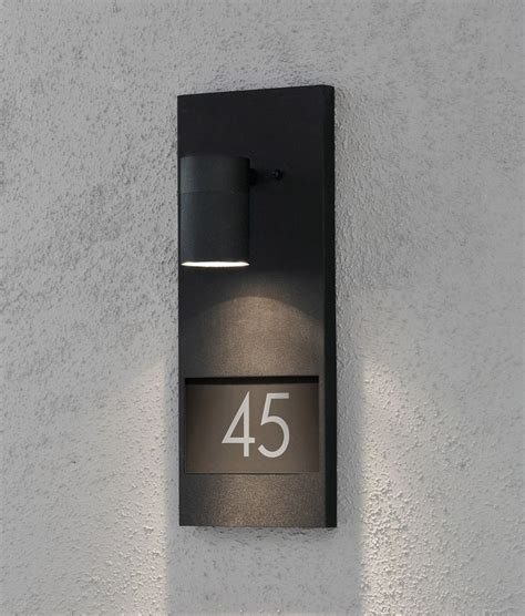 house number plaque  illumination