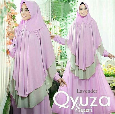 Gamis Qyuza gamis sifon terbaru 2018 qyuza lavender baju gamis