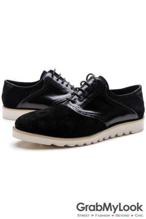 mens black suede oxford shoes black patent suede leather lace up white sole mens oxford
