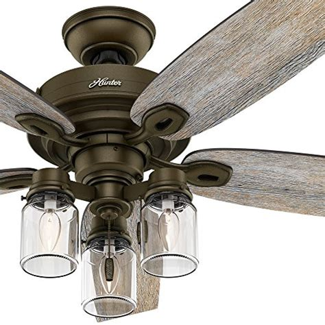 farmhouse style ceiling fans hunter fan 52 quot regal bronze ceiling fan includes three
