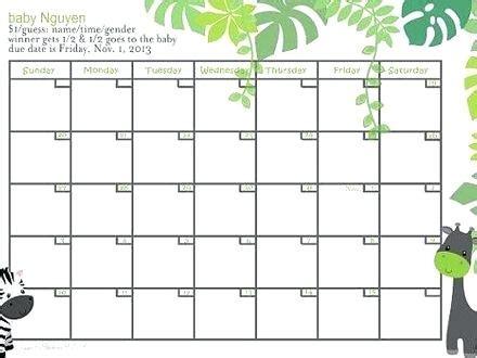 baby pool calendar template baby pool template printable calendar office danielmelo info