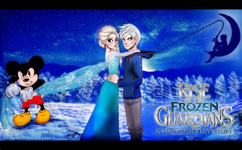 film elsa dan jack rise of the frozen guardians elsa and jack frost by