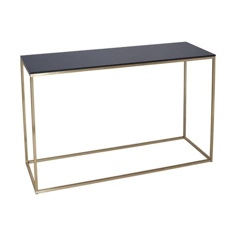 Buy Black Glass And Gold Metal Console Table From Fusion Gold Sofa Table