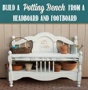 how to make a footboard garden accessories diy garden potting bench from a