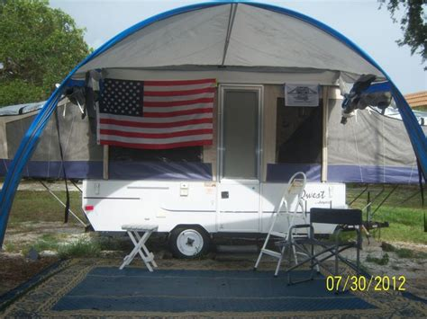 pop up cer awning screen room like flag also