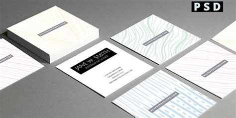 mini business cards 4 free double sided psd templates