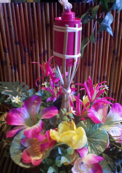 tiki torch centerpieces google search hula beach party pinterest tiki torches and style
