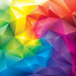 colorful crystal polygonal background free vector