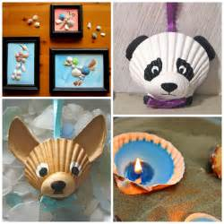 kid crafts adorable seashell craft ideas for crafty morning