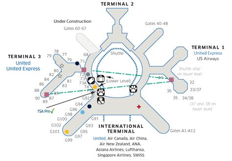 san francisco airport map jetblue sfo airport map united airlines
