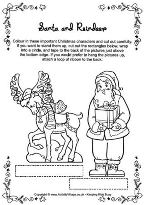 reindeer template activity village christmas reindeer colouring page