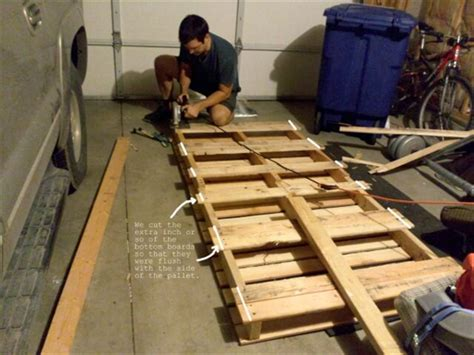 diy pallet bed tutorial pallet tutorials diy pallet bed 99