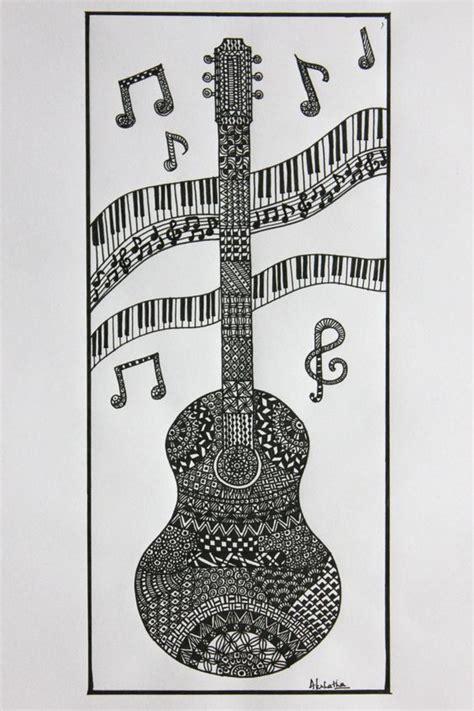 doodle guitar guitar zentangle zentangle doodle от