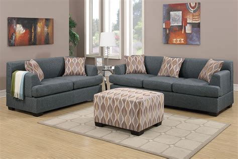 Blue Grey Sofa by 2 Pcs Blue Grey Linen Fabric Sofa Loveseat Set Lowest