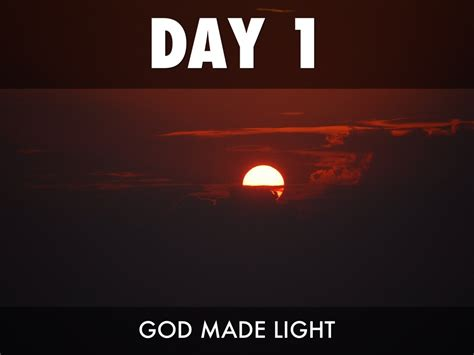 What Day Did God Create Light by 7 Days Of Creation By Geoffrey Morris