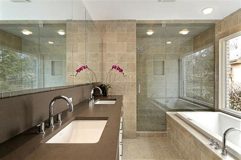 Modern Master Bathroom Contemporary Master Bath Design From Above And Beyond Marble Granite Kitchen Bath Renovations