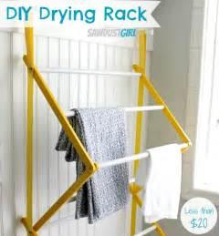 Diy drying rack from https sawdustgirl com