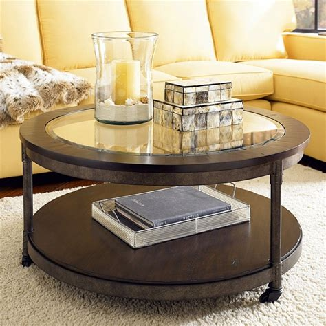 Best Coffee Tables For Small Living Rooms Saving Small Living Room Spaces With Brown Wood Coffee Table With Glass Top And Metal