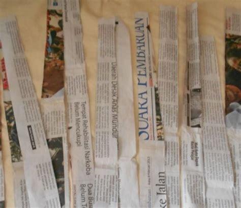 tutorial bunga dari kertas koran membuat vas bunga dari kertas koran tutorial lain lain