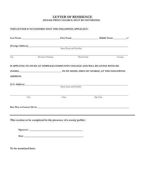 Sle Affidavit Of Residence Proof Of Residency Affidavit Template