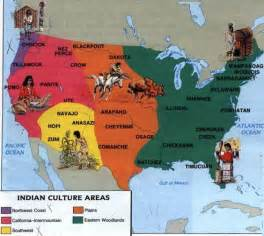 indian tribes of map indian tribes american tribes and on