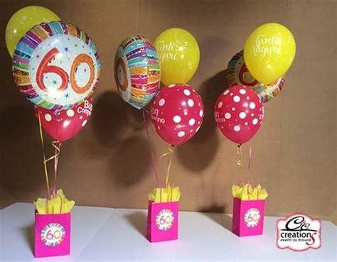addobbare tavolo per compleanno centrotavola di palloncini per festeggiare 60 anni festa