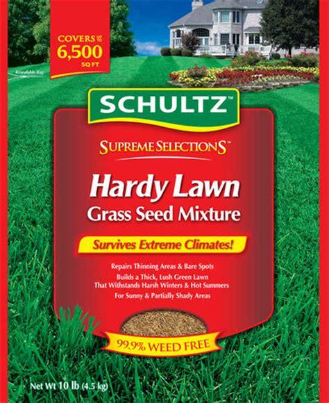 schultz 174 hardy lawn grass seed mixture at menards 174