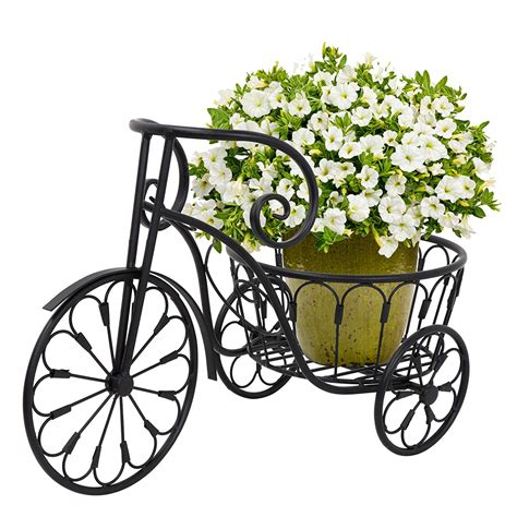 buy wrought iron tricycle plant stand bicycle planter pot
