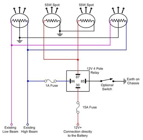 spotlight relay wiring photos electrical circuit