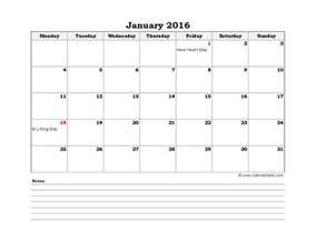 Monthly Excel Calendar Template by 2016 Excel Calendar Template Fillable Calendar Template 2016