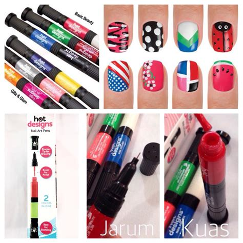 Kutek Pen Design 6 color nail arts pen glitz and glam color perias