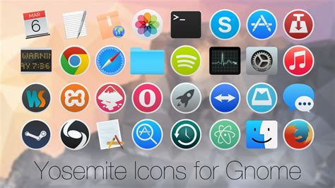 gnome icon themes deviantart yosemite icons for linux by zacpier on deviantart
