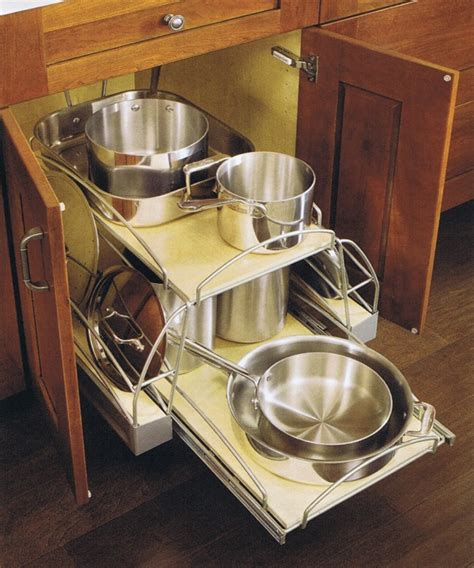 Pull Out Pots And Pans Rack by Pots And Pans Rack Step 5 Pots And Pans Organizer