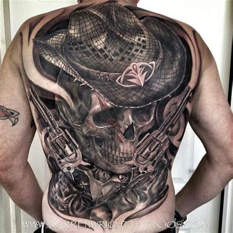 skull guns tattoo pinterest