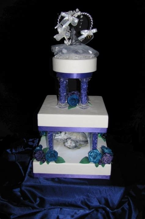 Wolf Cake Decorations by 3 Tier Fondant Wedding Cake Decorated In A Wolf Theme With