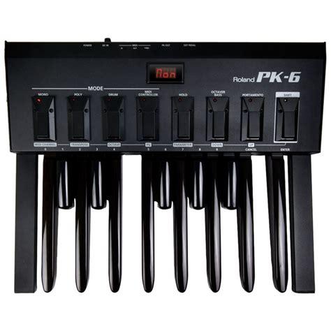 Pedal Keyboard Roland disc roland pk6 dynamic midi pedal at gear4music