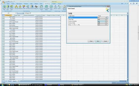 data mining using the excel data mining addin