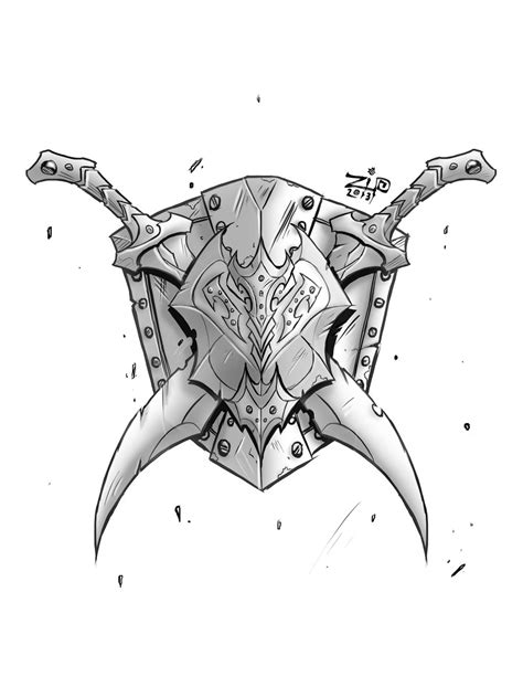 sword and shield tattoo steves shield and swords by zipdraw on deviantart