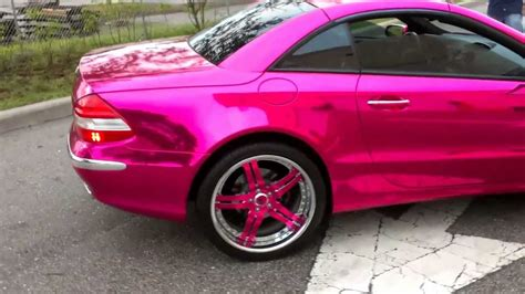 pink chrome pink chrome wrap mercedes