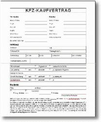 Motorrad Kaufvertrag Mobile De by Auto Kfz Kaufvertrag Vorlage