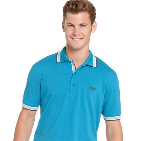 Tille Polos Prancistile Polos Perancis hugo green polo shirt paddy polo in blue for turkish tile blue lyst