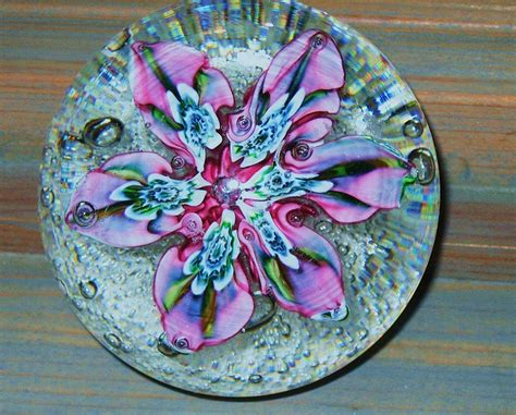 Handmade Paper Weight - handmade glass paper weight by jandclindenbaum photos