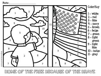 veterans day coloring page pdf free memorial day and veterans day color by number